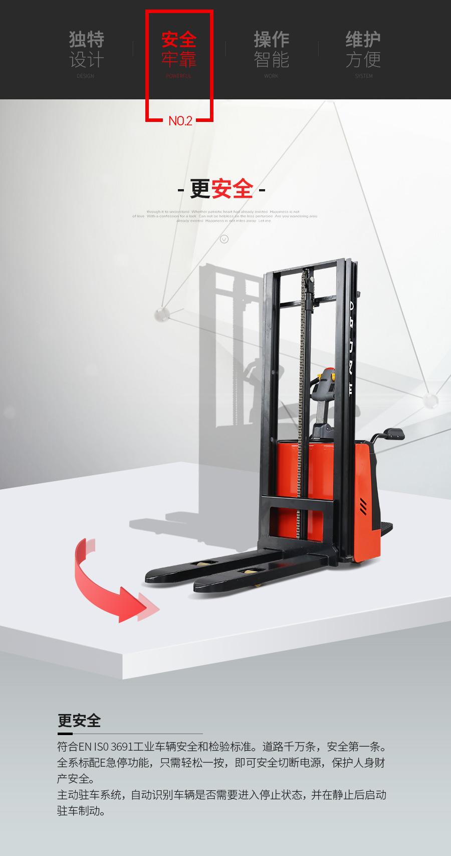 中力 1.5吨电动堆高车RSB151Z 电子转向辅助系统