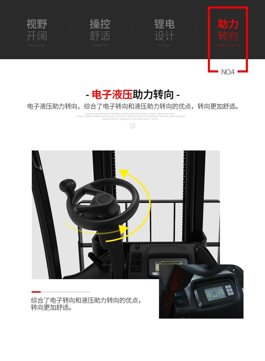 中力1.8/2.0吨 三支点电动平衡重叉车/锂电 CPD18/20L2