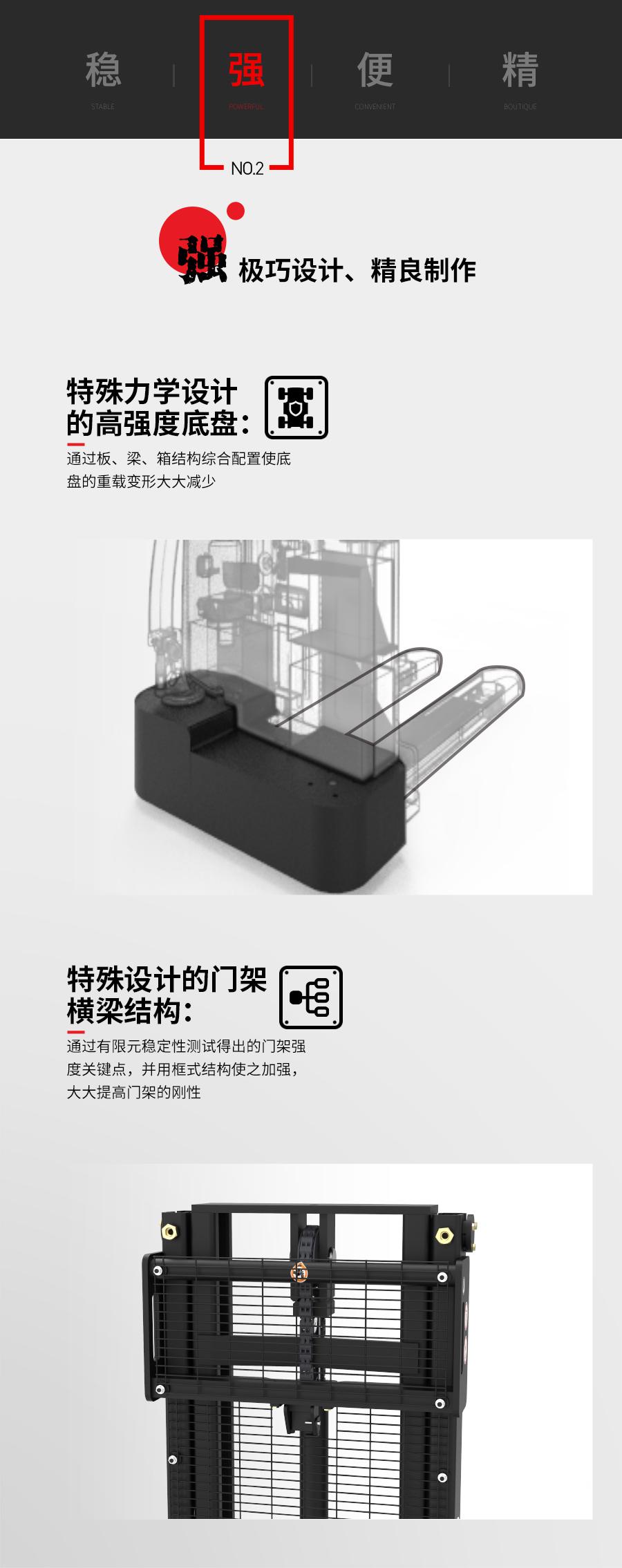 中力 1.5吨经济型步行式电动堆高车EST152Z