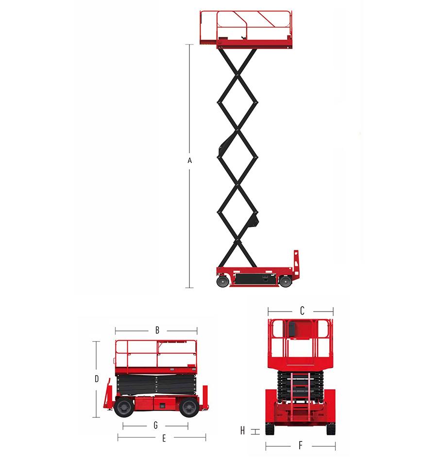 自行走剪叉式高空作业平台E系列-HS0608E